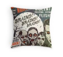 The Zombies Night Out! Throw Pillow