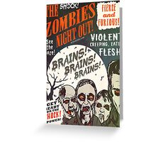 The Zombies Night Out! Greeting Card