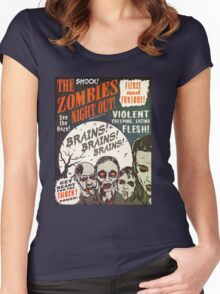 The Zombies Night Out! Women's Fitted Scoop T-Shirt