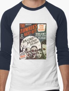 The Zombies Night Out! Men's Baseball ¾ T-Shirt