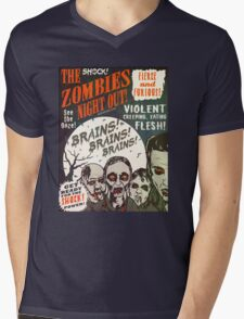 The Zombies Night Out! Mens V-Neck T-Shirt