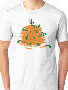 Cool bunny and carrots Unisex T-Shirt