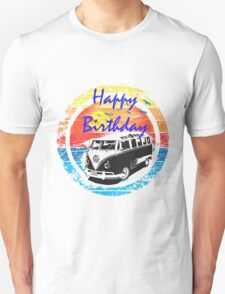 VW Kombi Happy Birthday Card T-Shirt