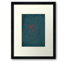 Zodiac Minimalist Poster Framed Print