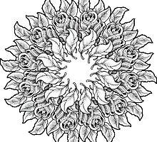 Rose Mandala Sticker by jthongbai