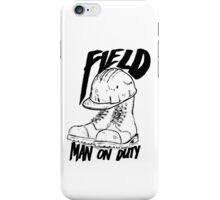 Field man on duty iPhone Case/Skin