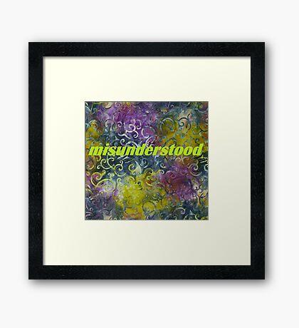 Misunderstood multi-colored Framed Print