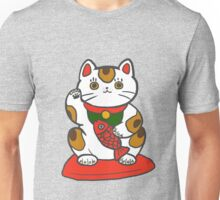 The luckiest of lucky cats Unisex T-Shirt