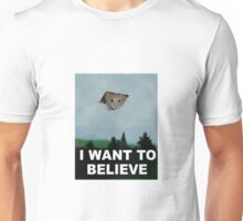 I Want To Believe - Kitty UFO Unisex T-Shirt