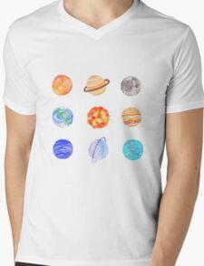 planets Mens V-Neck T-Shirt