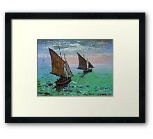 After Monet Framed Print