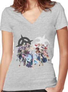 Fire Emblem Fates - Hoshido & Nohr Royalty Women's Fitted V-Neck T-Shirt
