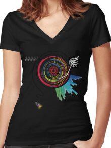 Pendulum Vinyl Music Mashup Women's Fitted V-Neck T-Shirt