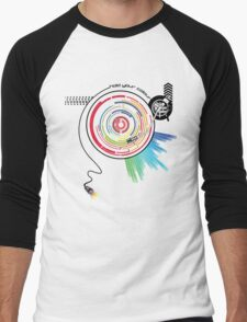 Pendulum Vinyl Music Mashup Men's Baseball ¾ T-Shirt