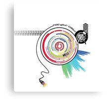 Pendulum Vinyl Music Mashup Canvas Print