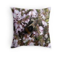 Golden wings - bumble bee wings Throw Pillow