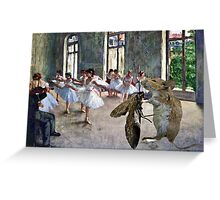Mouse & Moth Dancing Greeting Card
