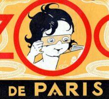 Vintage Paris Zoo stereoscopes jazz age advertising France Sticker
