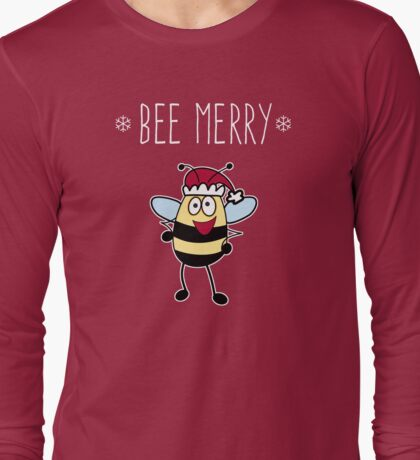Bee Merry, Christmas Bumble Bee Long Sleeve T-Shirt