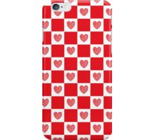 Checkered Red Hearts   iPhone Case/Skin