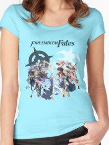 Fire Emblem Fates - Hoshido & Nohr Royalty (with Logo) Women's Fitted Scoop T-Shirt