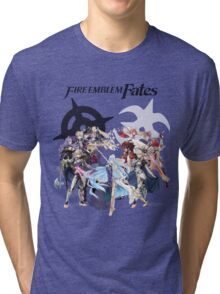Fire Emblem Fates - Hoshido & Nohr Royalty (with Logo) Tri-blend T-Shirt
