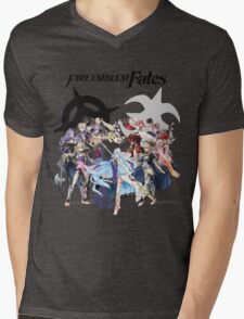 Fire Emblem Fates - Hoshido & Nohr Royalty (with Logo) Mens V-Neck T-Shirt