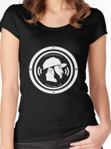 Podcast Big Logo Shirts Women's Fitted Scoop T-Shirt