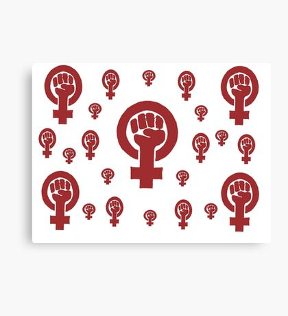 Feminist Red Canvas Print