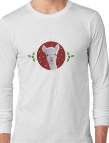 Christmas Carol Llama Long Sleeve T-Shirt