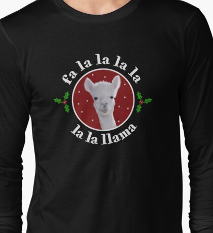 Christmas Carol Llama Long Sleeve T-Shirt