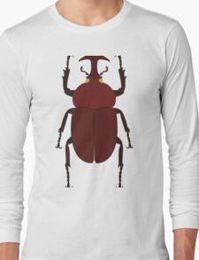 Japanese Rhino Beetle Long Sleeve T-Shirt