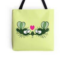 Ugly flies kissing and falling in love Tote Bag