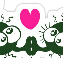 Ugly flies kissing and falling in love Sticker