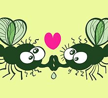Ugly flies kissing and falling in love by Zoo-co