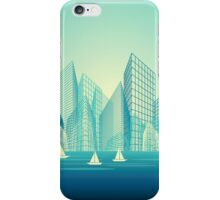 City Landscape at morning iPhone Case/Skin