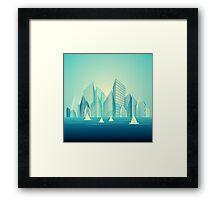 City Landscape at morning Framed Print