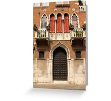 Venetian style facade Greeting Card