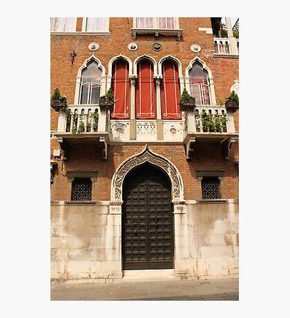 Venetian style facade Photographic Print