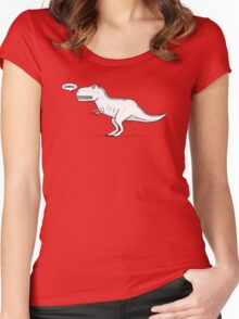 Cartoon Tyrannosaurus Rex Women's Fitted Scoop T-Shirt