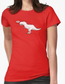 Cartoon Tyrannosaurus Rex Womens Fitted T-Shirt