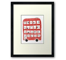 The Red Bus Framed Print