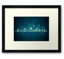 City Landscape at night Framed Print