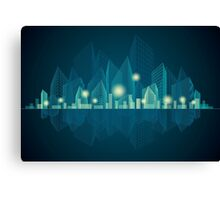 City Landscape at night Canvas Print