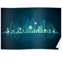 City Landscape at night Poster