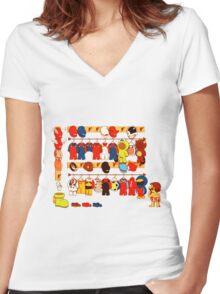 The Plumber's Closet Women's Fitted V-Neck T-Shirt