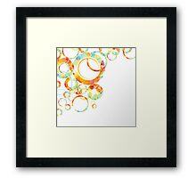 Abstract colorful background Framed Print