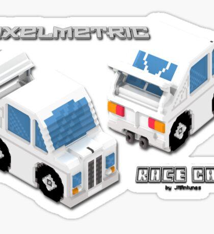 VoxelMetric Race Car Sticker