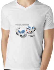 VoxelMetric Race Car Mens V-Neck T-Shirt