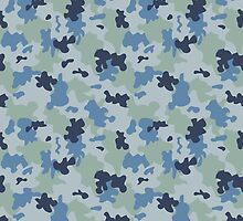 Blue Camouflage by ARTPICSS